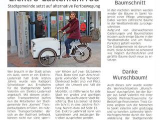 E-Lastenrad für Stadtgemeinde St. Valentin