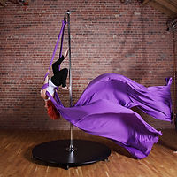 pole silks, aerial silks class, aerial yoga, pole silks