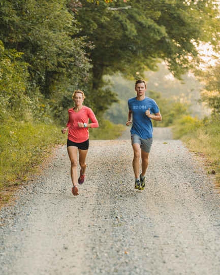 couple-gravel-road-running-boone-nc