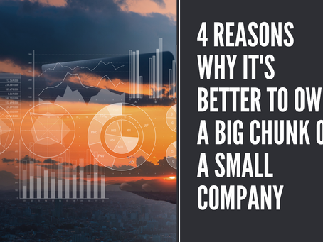 4 Reasons Why It's Better to Own a Big Chunk of a Small Company