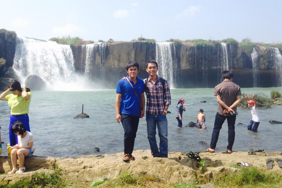 Waterfall and my best friend