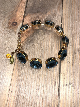 Blue and Gold Bracelet