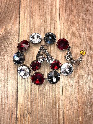 14mm Bracelet with Double Crystal Earrings