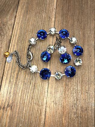 Alternating Crystals Bracelet and Earrings