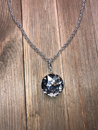 Large Single Crystal Pendant with Chain