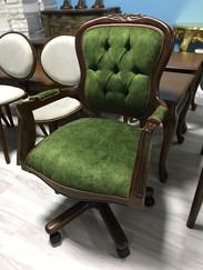 Tekerlekli Dönen Yeşil Ofis Sandalyesi