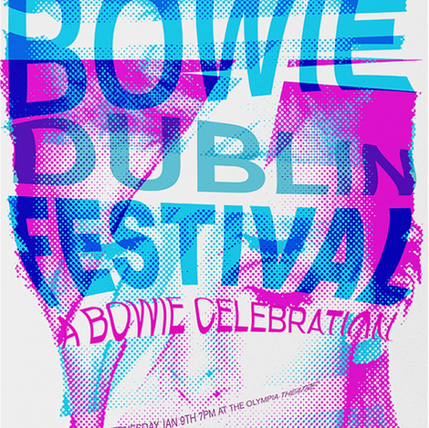 David Bowie Screen Printed Poster
