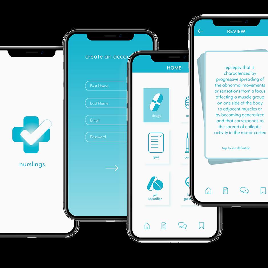 nurslings app design