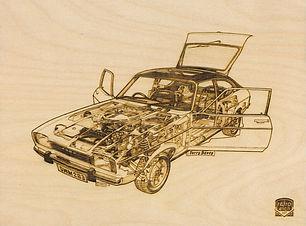 Retro Etch FORD CAPRI 1600GT Haynes Manu