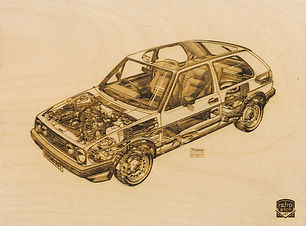 Picture of Retro Etch VW GOLF GTI Haynes