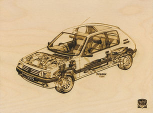 Retro Etch PEUGEOT 205 Haynes Manual by