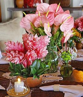 Decor Tropical romântica.  Uma mistura d