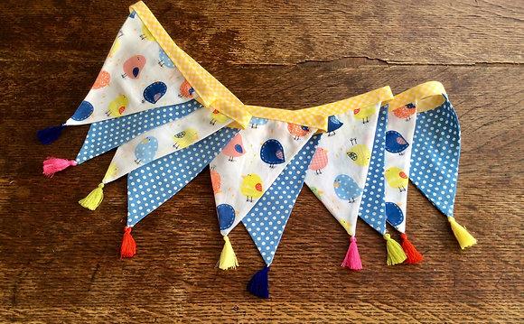Bright, Colourful Chicks & Blue Polka Dot Bunting BTA