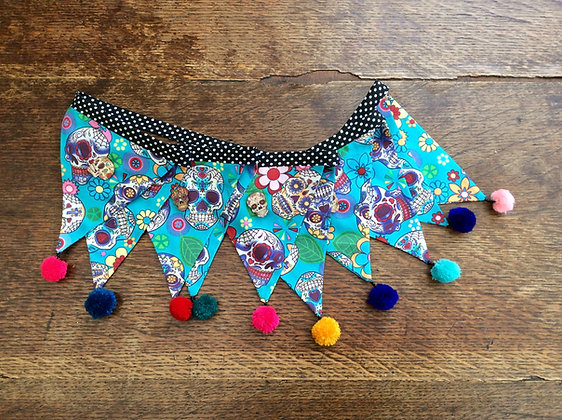 Turquoise Day Of The Dead Bunting BTA