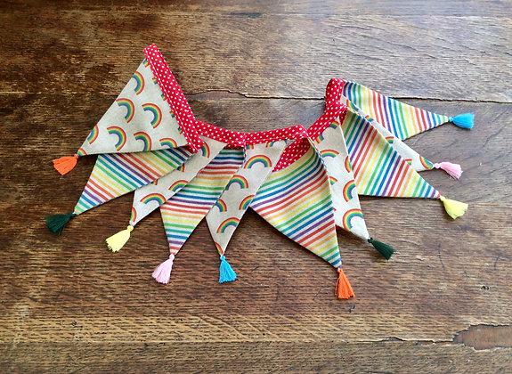 Rainbow Bunting with Horizontal Stripes BTA