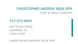 Dr. Christopher A. Seda, DPM