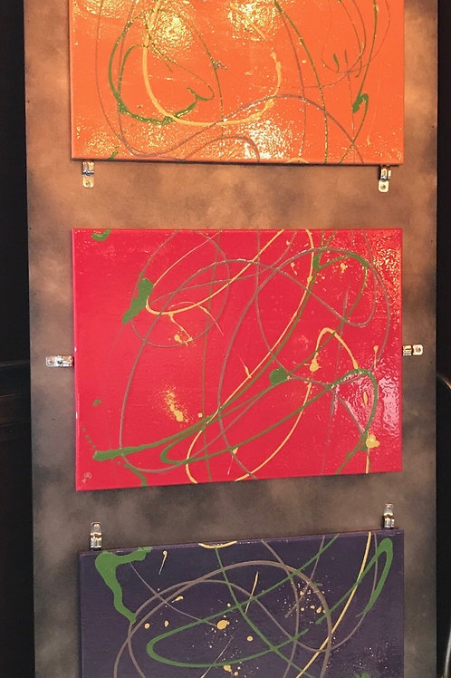 "Triptych Tricolor 60""x30"""