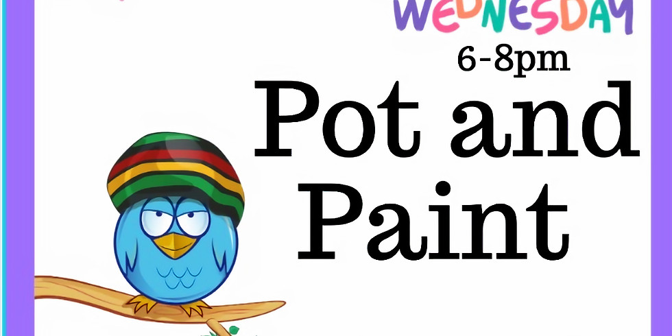 Pot & Paint Abstract Art Class (21 and older) $50