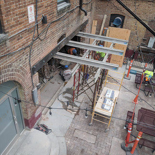 Courtyard masonry work for Event Space O