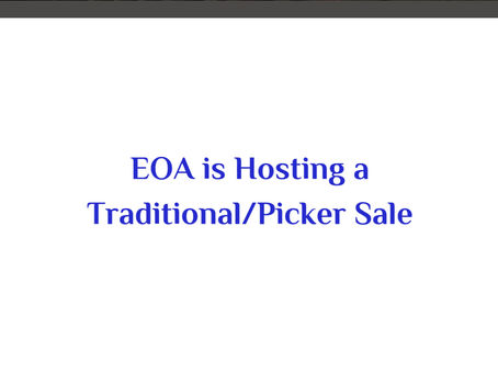 EOA is Hosting a Fun and Exciting Traditional/Picker Sale in Stockton, CA
