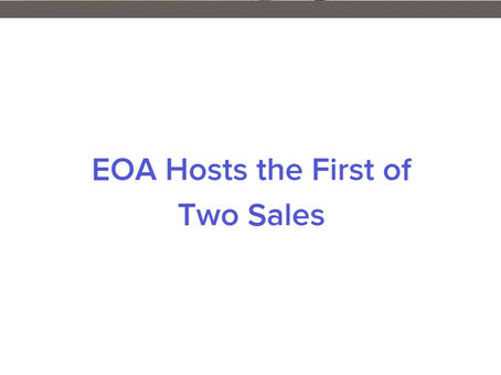 Estate of Affairs is Hosting the First of Two Sales