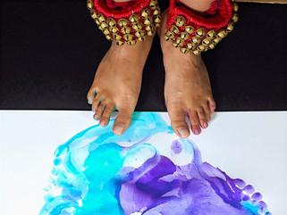 Dancer's trace I: Paint