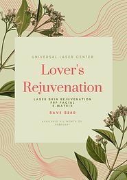 Green Floral Illustration Spa Valentine'
