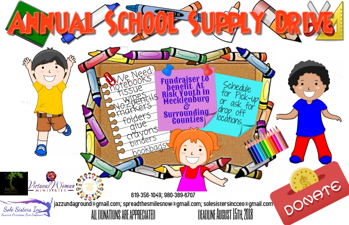 Annual School Supply Event Children Flyer