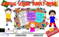 Annual School Supply Event Children Flyer