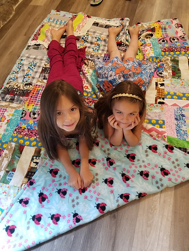 Twin Quilt made from Mask Scraps
