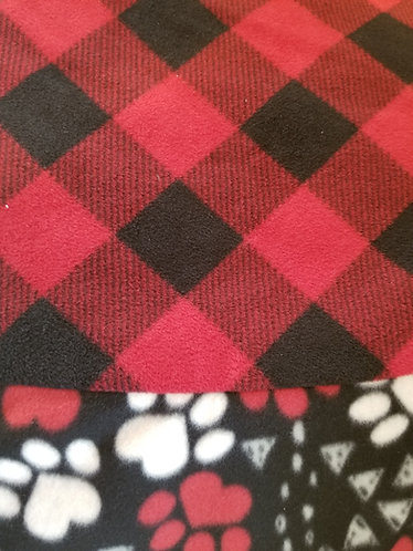 5 FEET ACROSS Buffalo Plaid Christmas Tree Skirt accented with our Paws border