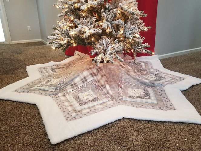 Family Values Star Tree Skirt/A Whopping 7' Across