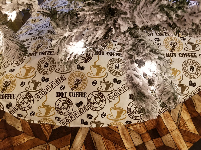 "Coffee Lovers Tree Skirt 45"" across"