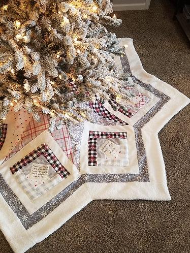 Family Values Star Tree Skirt/Nearly 9' Across!!!