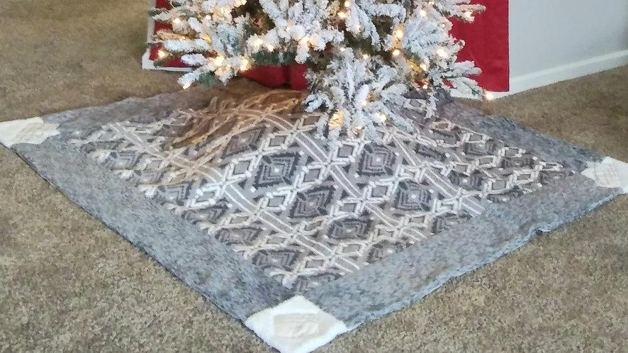 8' Across Square Christian Values Christmas Tree Skirt