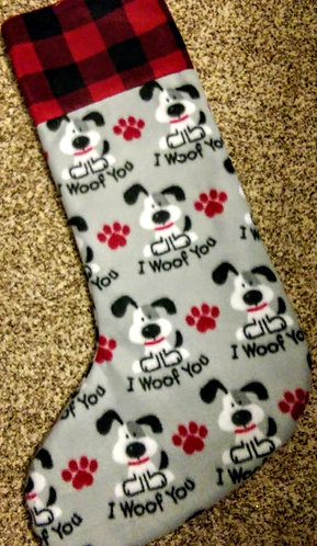 """I Woof You"" Stocking Jumbo 31"""