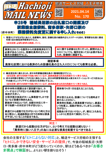No.170 -2021.4.14- 申28号交渉開催⑤