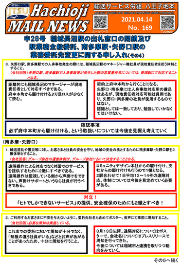 No.169 -2021.4.14- 申28号交渉開催④
