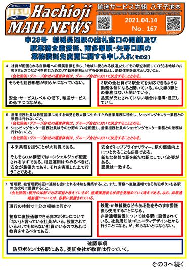No.167 -2021.4.14- 申28号交渉開催②