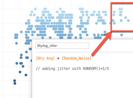 How to add jitter in R and Tableau?