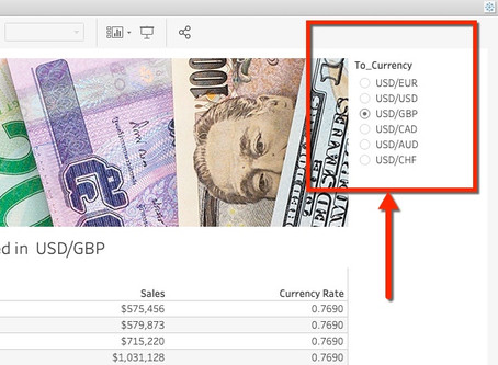 How to add currency rates to Tableau Dashboards using Python?