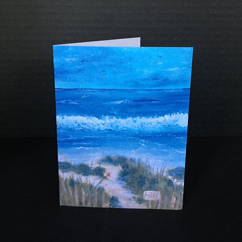 This Way to the Beach Notecard