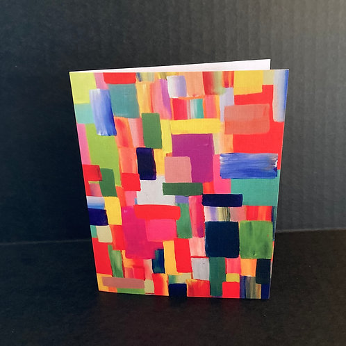 Color Patchwork Notecard