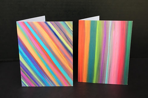 Neon Striations Notecard