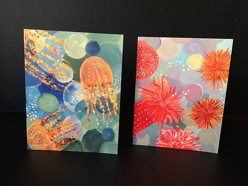 Floating Free Notecards