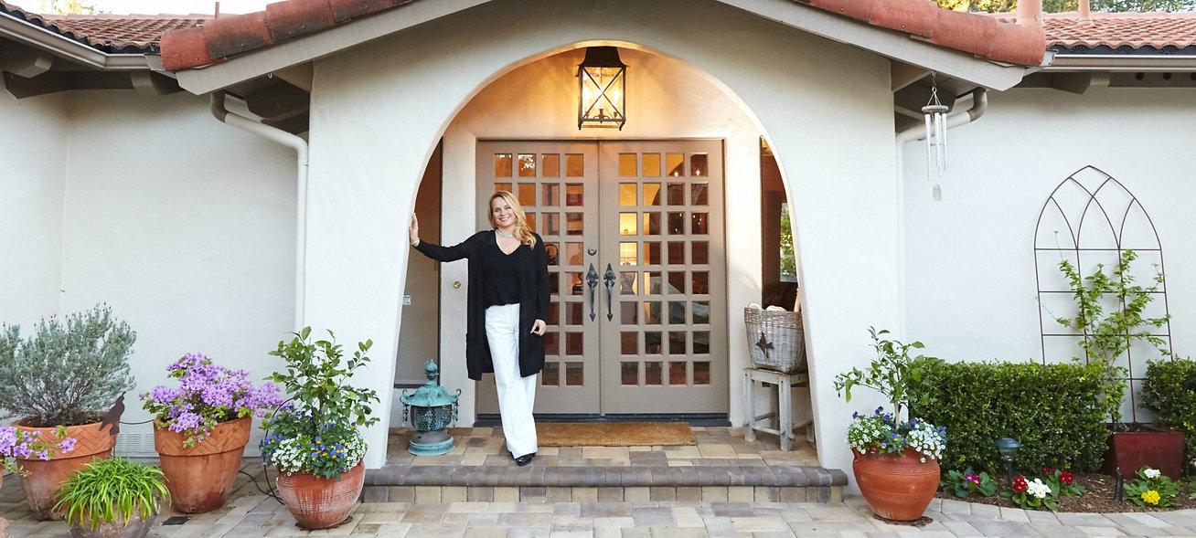 Debora Sanders, Realtor, at home