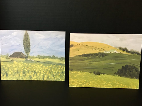 Hills and Meadows Notecards