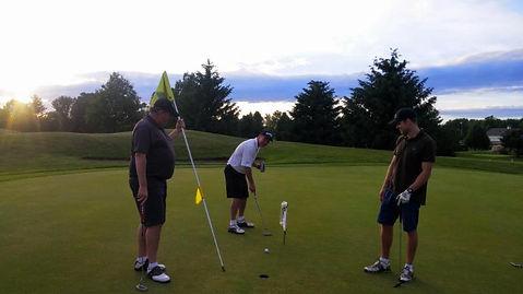 Men Golfing in League