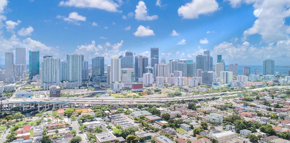 Aerial photo of Miami skyline