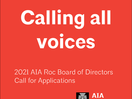 2021 AIA Roc Board of Directors Openings